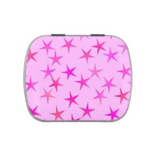 El satén protagoniza, orquídea en pálido - rosa frascos de caramelos