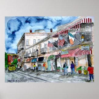 el savannah_river_street_painting poster
