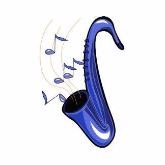 el saxofón abstracto w del saxofón observa blue.pn esculturas fotográficas