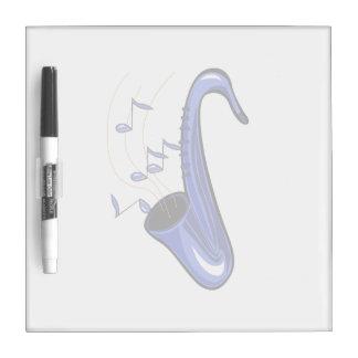 el saxofón abstracto w del saxofón observa blue.pn tableros blancos