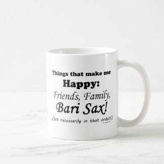 El saxofón de Bari me hace feliz Taza De Café