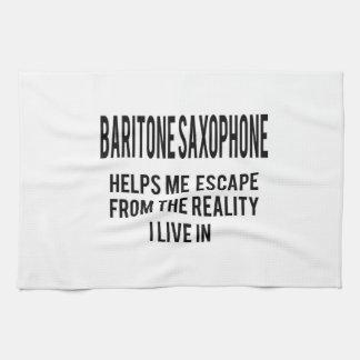El saxofón del barítono me ayuda a escaparme del toalla de cocina