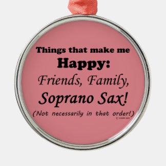 El saxofón del soprano me hace feliz