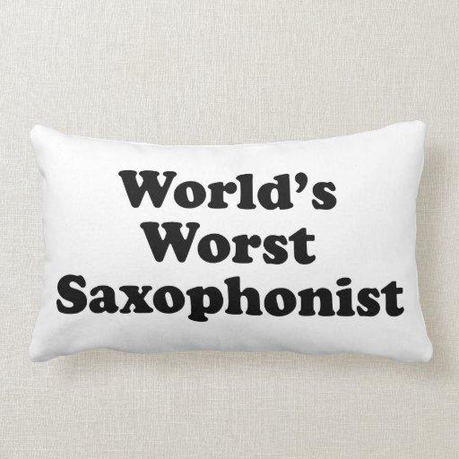 El saxofonista peor del mundo cojines