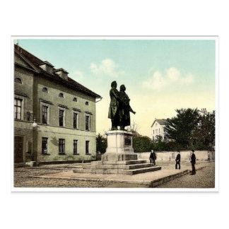 El Schiller y el monumento de Goethe, Weimar, Thur Postal