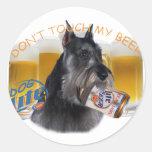 El Schnauzer no toca mi cerveza Etiquetas Redondas