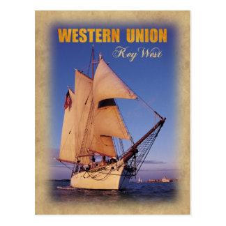 El Schooner histórico de Western Union, Key West Tarjeta Postal