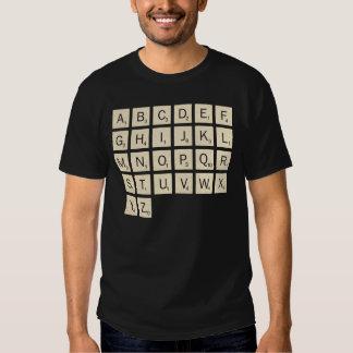 El Scrabble personalizado coloreado de los hombres Playera