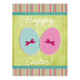 El scrapbooking de los huevos de Pascua colorido Postales