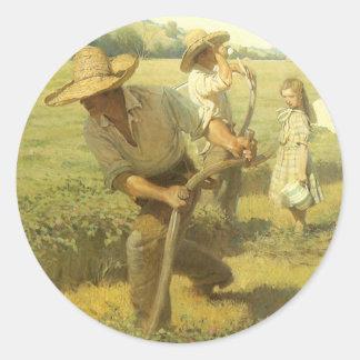 El Scythers de nuevo a la granja por NC Wyeth Etiquetas