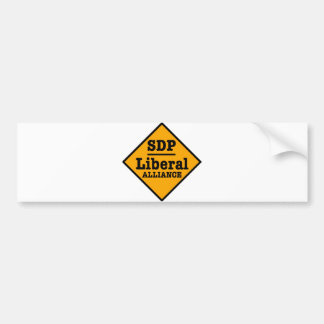 El SDP Alliance liberal firma Etiqueta De Parachoque