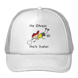 Él se zambulle él es camisetas y regalos seguros gorros bordados