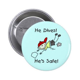 Él se zambulle él es camisetas y regalos seguros pin