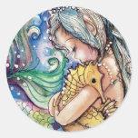 El SeaHorse abraza al pegatina de la sirena