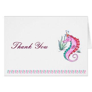 El Seahorse le agradece cardar en colores del art  Tarjeta De Felicitación
