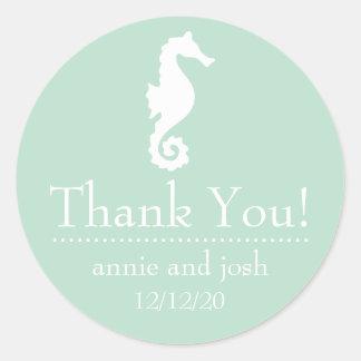 El Seahorse le agradece las etiquetas (la verde Etiquetas Redondas