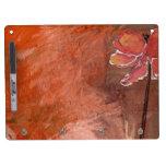 El Seco-Borrado anaranjado metálico del diseño flo Pizarras