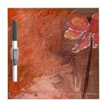 El Seco-Borrado anaranjado metálico del diseño flo Pizarras Blancas