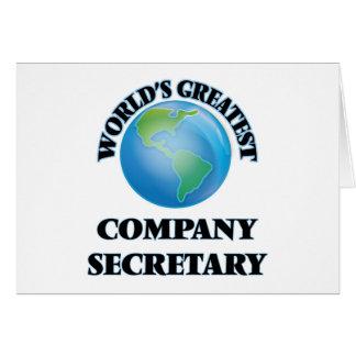 El secretario de la empresa más grande del mundo tarjetas