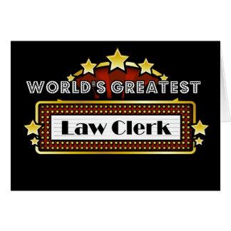 El secretario judicial más grande del mundo tarjeta de felicitación