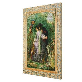 El secreto, 1858 impresiones de lienzo