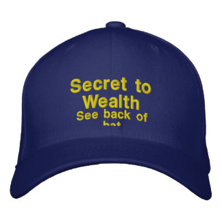 El secreto a la riqueza gorras de beisbol bordadas
