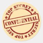 El secreto archiva a los pegatinas confidenciales etiquetas redondas