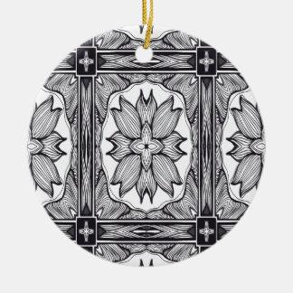 El secreto blanco y negro adornos de navidad