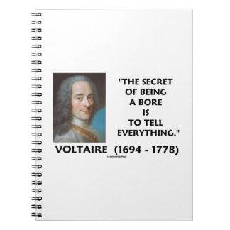 El secreto de ser un diámetro interior dice a todo spiral notebook