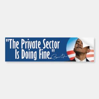 El sector privado está haciendo muy bien pegatina para auto