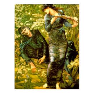 El seducir de la pintura 1874 de Burne-Jones del ~ Postales