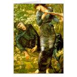 El seducir de la pintura 1874 de Burne-Jones del ~ Felicitacion