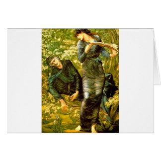 El seducir de la pintura 1874 de Burne-Jones del ~ Tarjeta De Felicitación