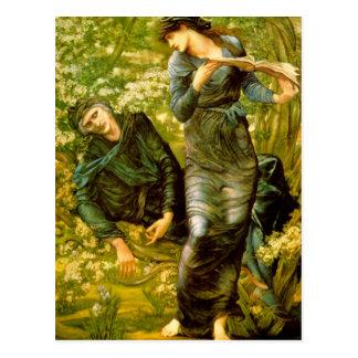 El seducir de MERLIN - Edward Burne-Jones Tarjetas Postales