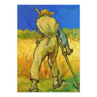 """El segador de Vincent van Gogh Invitación 5"""" X 7"""""""