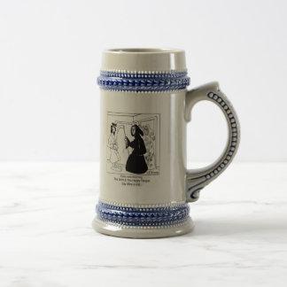 El segador feliz jarra de cerveza