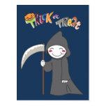 El segador - muchachos de Halloween Postales