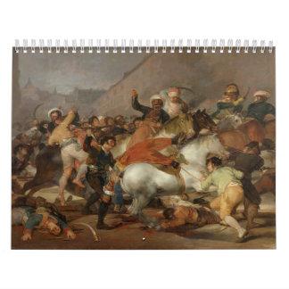 El segundo de mayo de 1808 la carga del Mamelukes Calendario