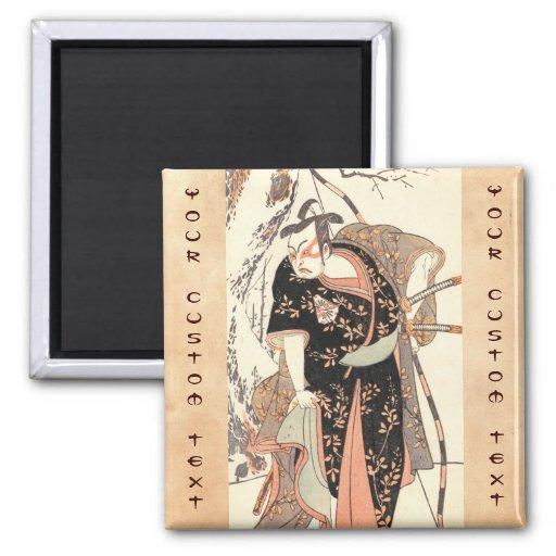 El segundo Nakamura Juzo como samurai de la alta f Imán De Nevera