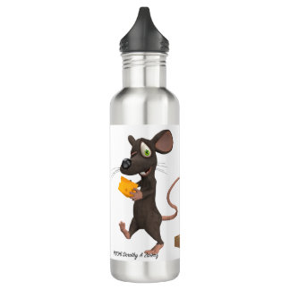 El segundo ratón consigue el queso botella de agua de acero inoxidable