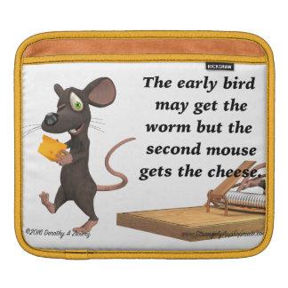 El segundo ratón consigue el queso fundas para iPads