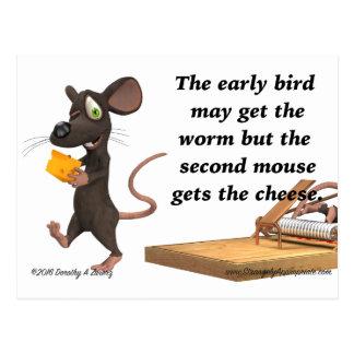 El segundo ratón consigue el queso postal