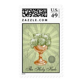 El sello certificado col rizada santa