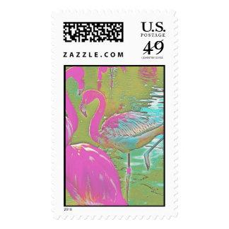 El sello cree flamencos coloridos