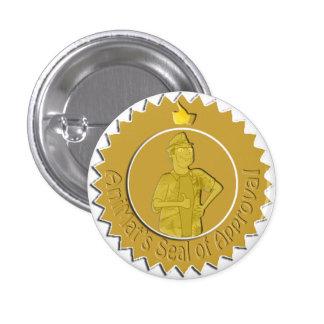 El sello de AniMat del Pin de la aprobación (peque Pin Redondo 2,5 Cm