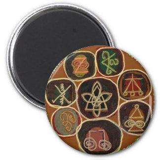 El SELLO de CURA:  Emblema de Karuna Reiki Imán Redondo 5 Cm