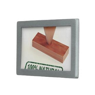 El sello de goma que produce la calidad natural hebillas de cinturon rectangulares