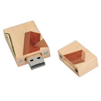 El sello de goma que produce la calidad natural pen drive de madera USB 2.0