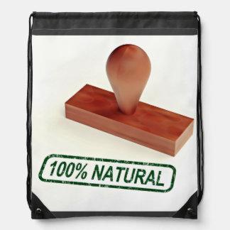 El sello de goma que produce la calidad natural mochila
