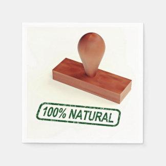 El sello de goma que produce la calidad natural servilleta desechable